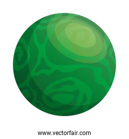 space planet green color isolated style icon