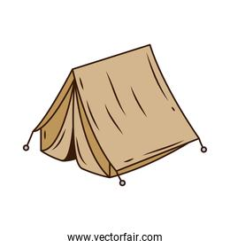 camping tent tool line and fill style icon