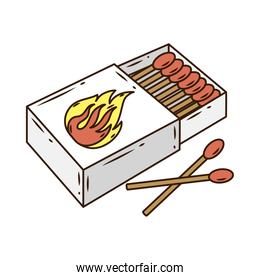 matchsticks fire tools box line and fill style icon