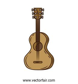guitar musical instrument line and fill style icon