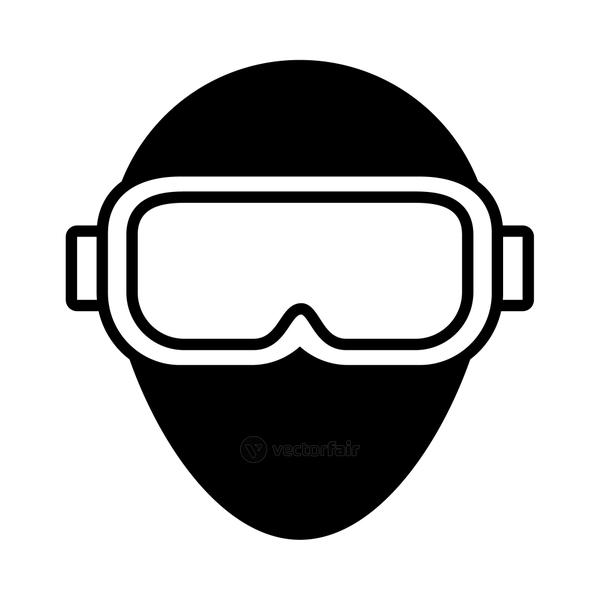 augmented reality design, icon of vr glasses, line style