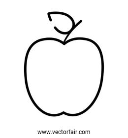 apple fruit icon, half line style