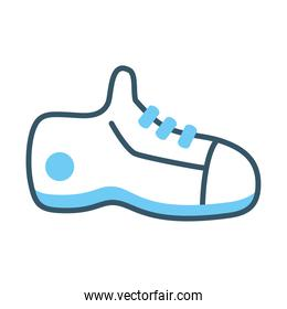 gym sneaker icon, line style