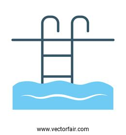 swimming pool icon, line style