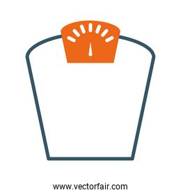weight scale icon, line style