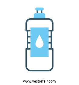 water bottle icon, line style
