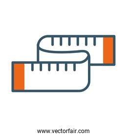 measuring tape icon, line style