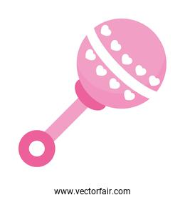 baby rattle icon, colorful design
