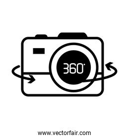 augmented reality design, 360 degree camera icon, line style