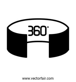 augmented reality design, 360 vision icon, line style