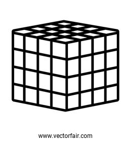 augmented reality design, 3d cube icon, line style