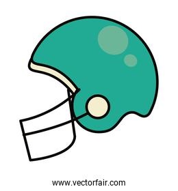 american football helmet icon, line and fill style