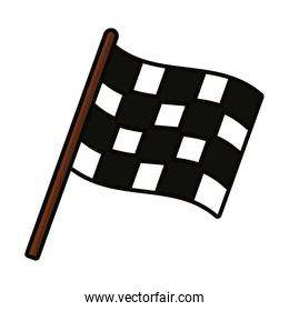 racing flag icon, line and fill style