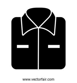 folded shirt icon, silhouette style