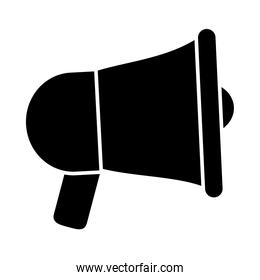 megaphone device icon, silhouette style