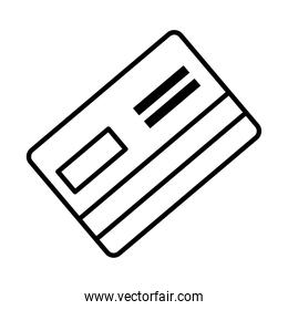 credit card icon, line style