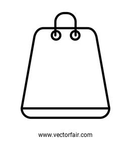 shopping bag icon, line style