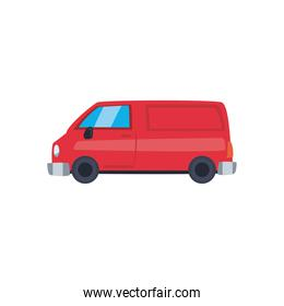 red and van car icon vector design