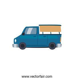 blue and pickup car icon vector design