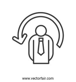 Businessman avatar with arrow vector design