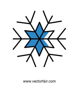 snowflake of winter season vector design