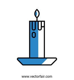 candle icon isolated vector design
