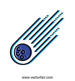 Space asteroid icon vector