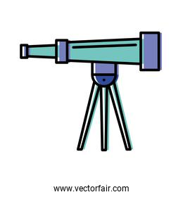 telescope icon isolated vector design