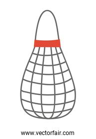 mesh bag on a white background
