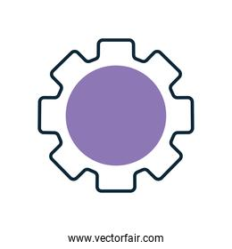 gear with a purple color