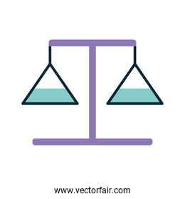 balance with a purple color on a white background
