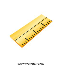 back to school ruler measuring supply icon design