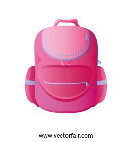 back to school pink rucksack supply icon design