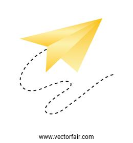 paper plane creativity icon design