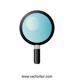 magnifying glass search science supply icon design
