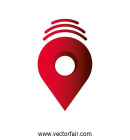gps navigation pointer location and destination icon