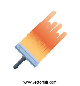 home remodeling brush stroke paint color tool icon design vector