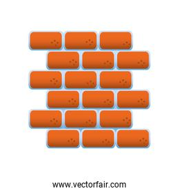 wall brick remodeling and construction icon design vector