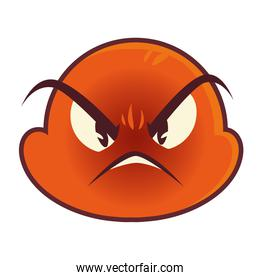 funny emoji, emoticon angry face expression social media