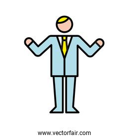 business man avatar character worker