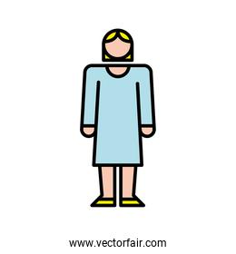 elegant business woman avatar character icon