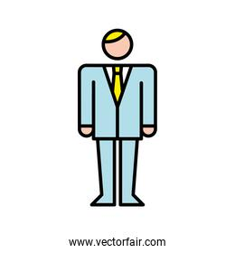business man avatar character icon