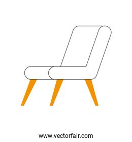 chair icon isolated vector design