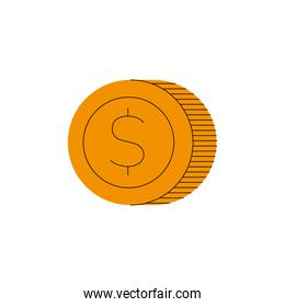 Coin icon isolated vector design