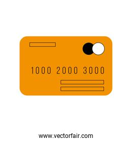 Credit card icon isolated vector design