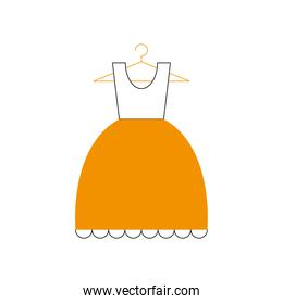 dress icon isolated vector design