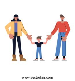 Mother father and son vector design