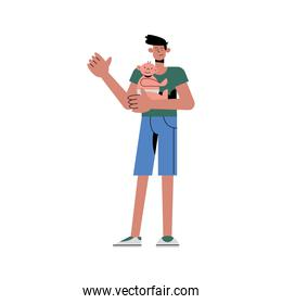 Father with baby vector design