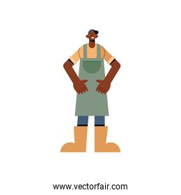 Farmer man with apron vector design