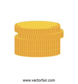 Coins icon isolated vector design
